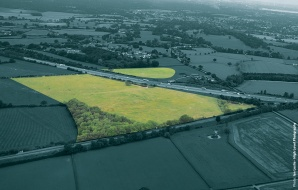 Proposed site of M25 Cobham Motorway Services Area in Surrey, June 2010