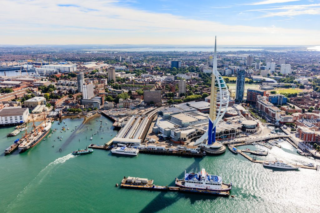 Aerial-Shot-of-Gunwharf-Quays-Portsmouth-1024x683 We Have Reached 5 Million Aerial Library Images!