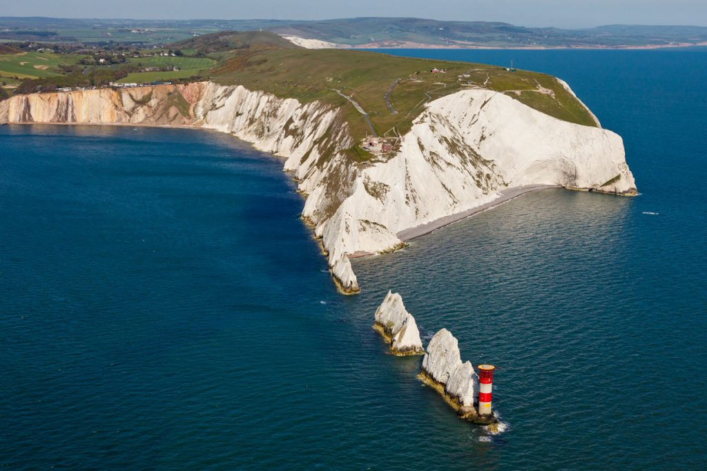 Library image looking from the Needles in Freshwater across the vast expanse of hills that make up the Isle of Wight